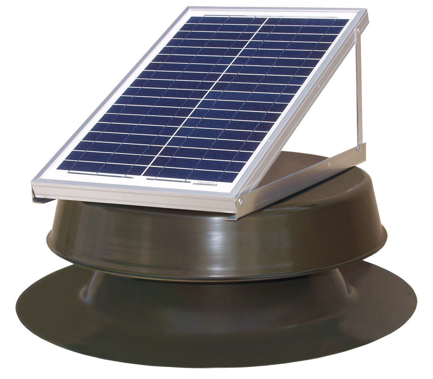Natural Light Solar Attic Fan 24-watt Bronze by Natural Light