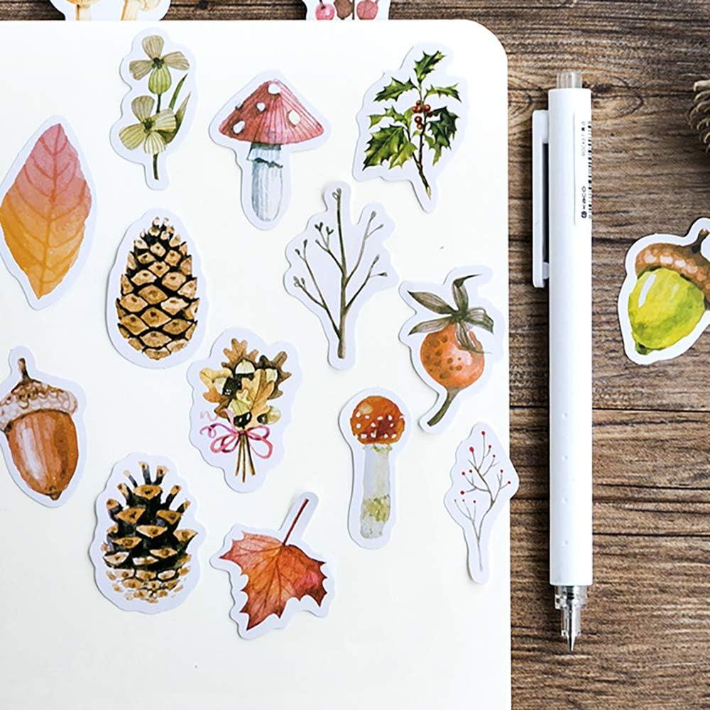 45pcs Mushroom Illustration Vellum Paper Stickers for Journaling Project