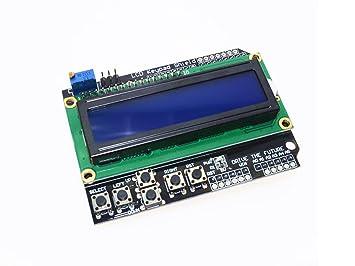 Módulo Pantalla LCD Azul Display 1602 botonera teclado arduino shield robótica: Amazon.es: Electrónica