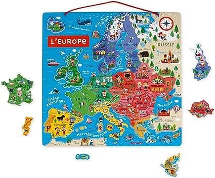 Juratoys-Janod Rompecabezas de Mapa magnético de Europa: Amazon.es ...