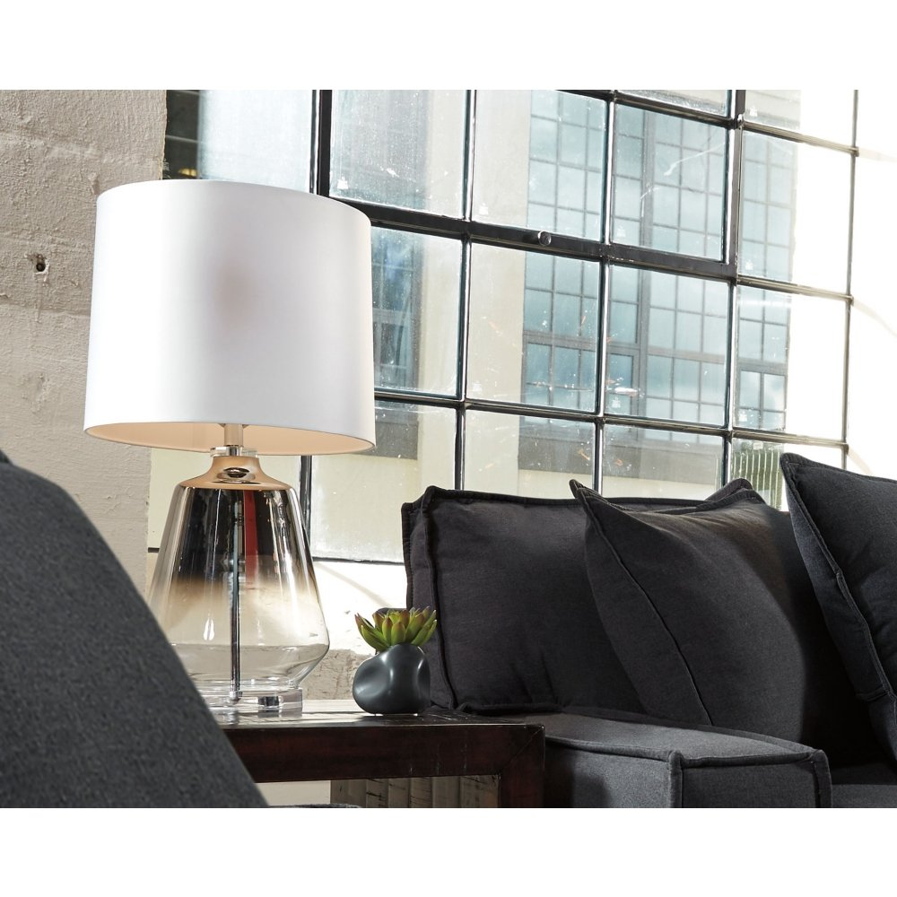 Ashley Furniture Signature Design - Jaslyn Table Lamp - Contemporary - Silver Finish