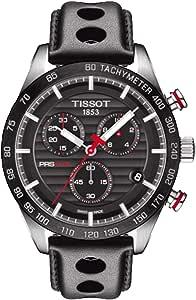 Tissot Men's Black Dial Rubber Band Watch - T100.417.16.051