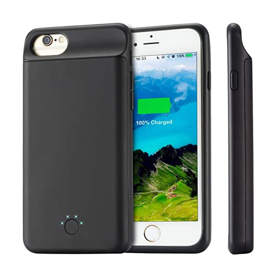 new concept 5b055 52f28 iPhone 6 7 8 6S Battery Charger Case, 6000 mAh iPhone Battery Charger Case  Universal iPhone 4.7' Rechargeable Extended Battery Charger for Apple ...