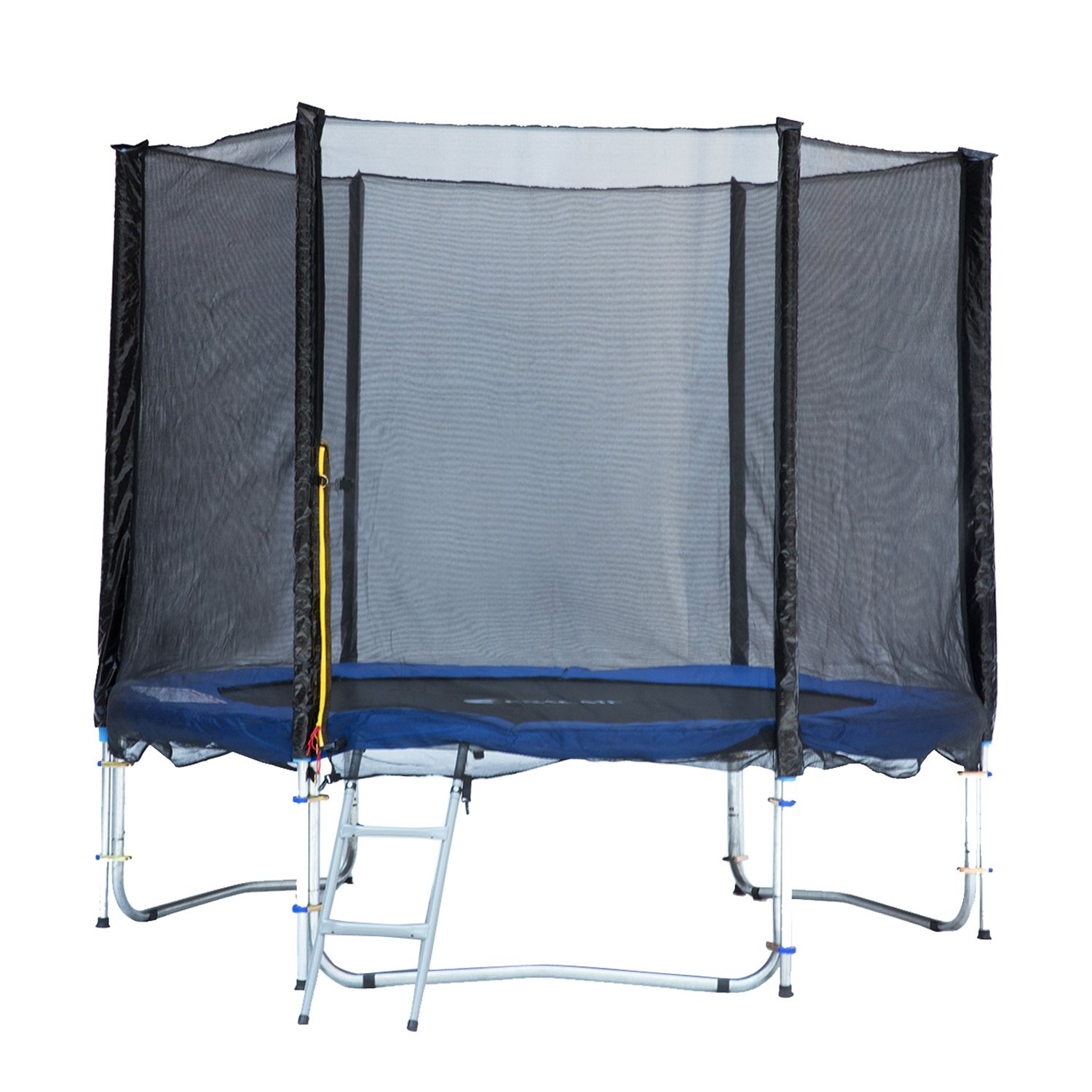 amazon com exacme 8ft trampoline w safety pad and enclosure net