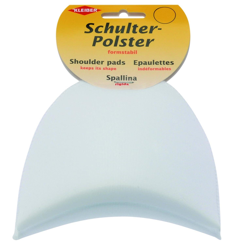 Kleiber - Spallina per abiti 9,5 x 9 x 3,3 cm, raso bianco 834-16