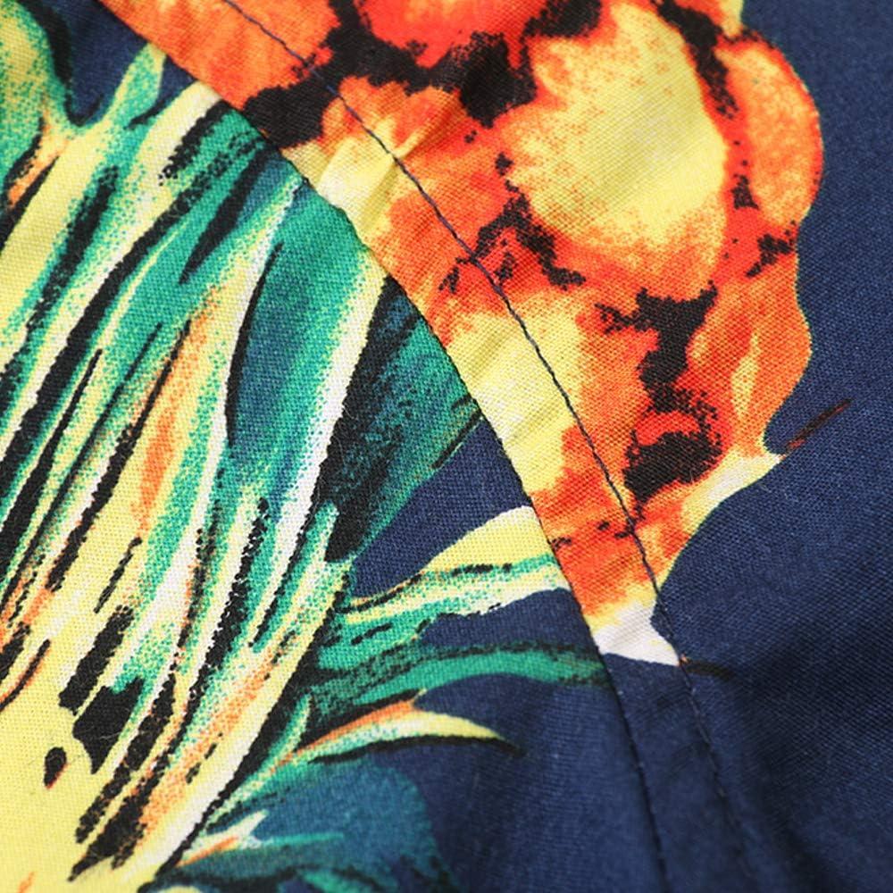 Big Jungen Hawaii-Hemd mit Knopfleiste und kurzen /Ärmeln