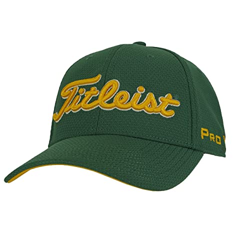 Titleist Dobby Tech Trend Collection Golf Cap 2017 Green Yellow Medium Large 8f651310925