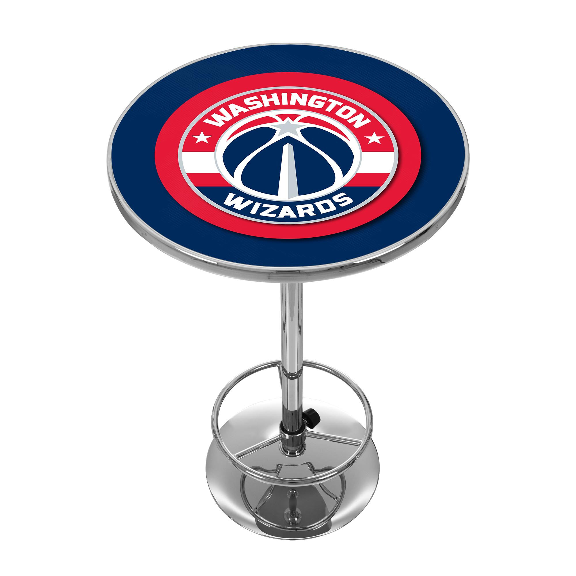 NBA Washington Wizards Chrome Pub Table by Trademark Global