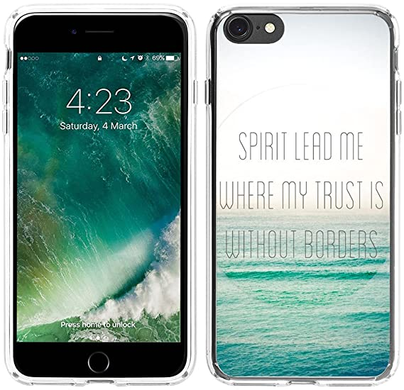 sneakers for cheap 49129 d28fc Case for iPhone 6S Christian Quotes,Hungo Compatible Soft TPU Silicone  Protective Cover Case Replacement for iPhone 6/6S Bible Verses Spirit Lead  Me ...
