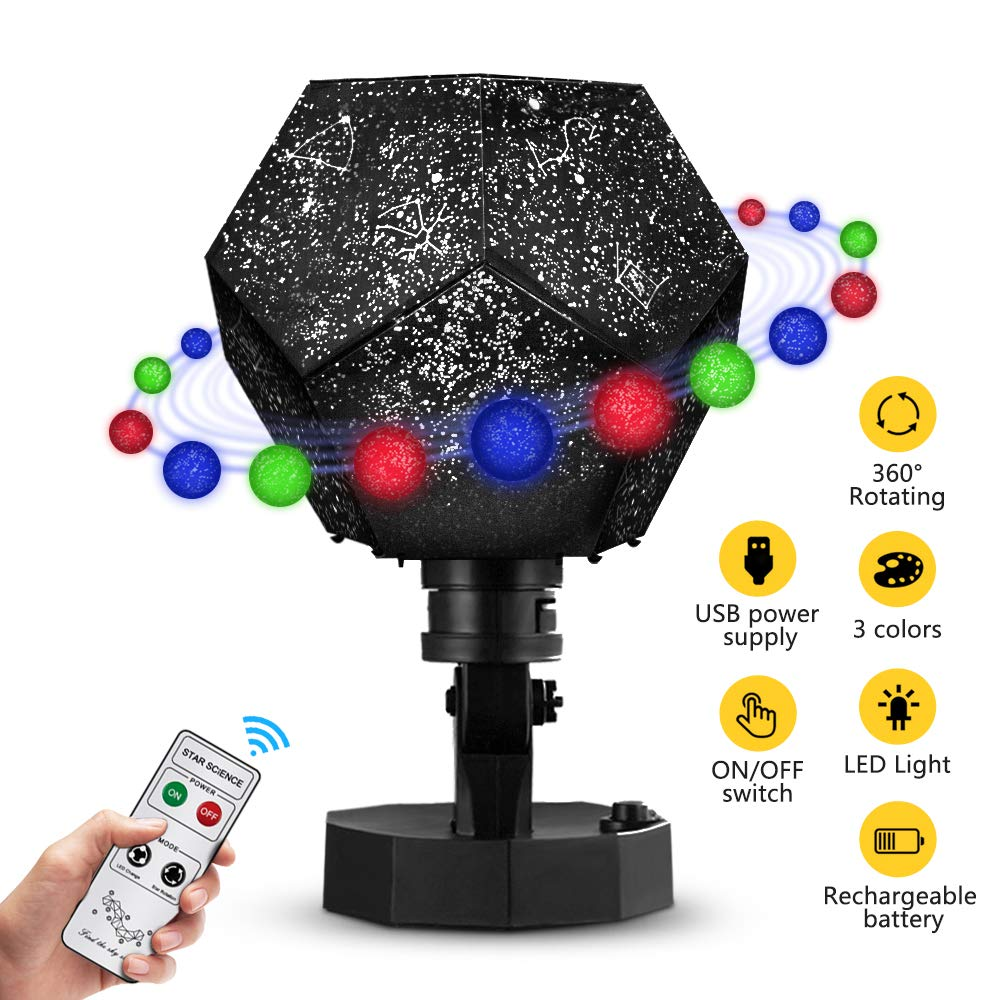 DIY Star Projector, Night Lights Toys for Kids, Rotating Baby Night Lighting Lamps for Kids and Baby Bedroom, Best for Kids to stimulate Imagination and Curiosity