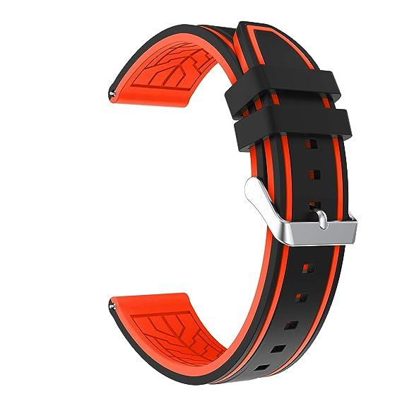 Fmway Repuesto de Correa Reloj 22mm de Silicona para Samsung ...