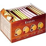 Kukkia Quatre Cookies Flavors of Chocolate, Strawberry, Dark Chocolate, Matcha Green Tea