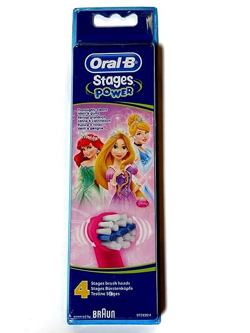 Oral-b - Braun stages - diseño disney princesas, cabezales para cepillo de dientes