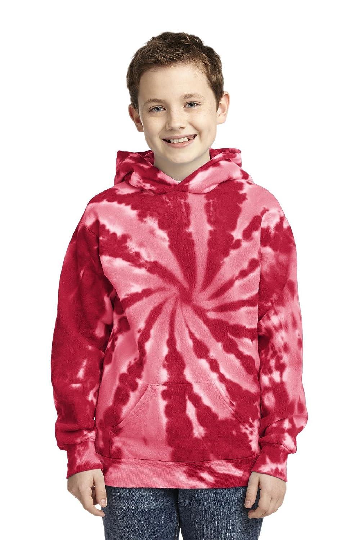 Port & Company Boys' Essential Tie Dye Pullover Hooded Sweatshirt