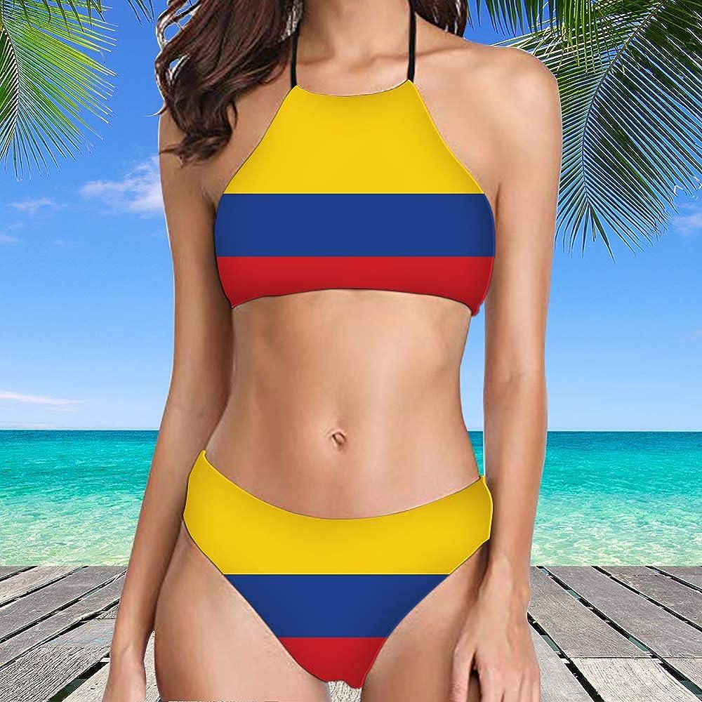 Foruidea - Conjunto de Bikini Sexy de Dos Piezas con la Bandera de ...