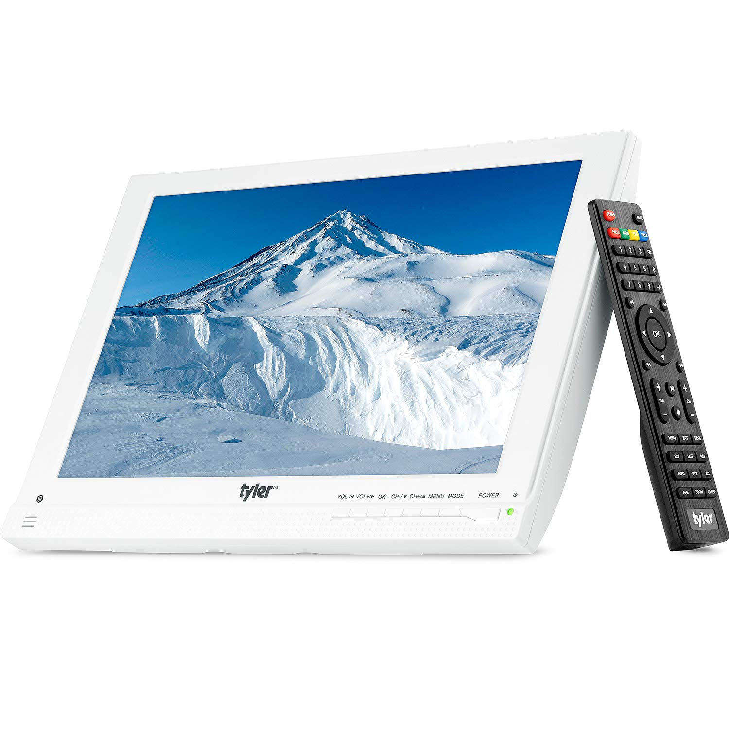 "Tyler TTV707-13 13.3"" Portable Battery Powered LCD HD TV Television with HDMI, USB, RCA, and SD Card Inputs 