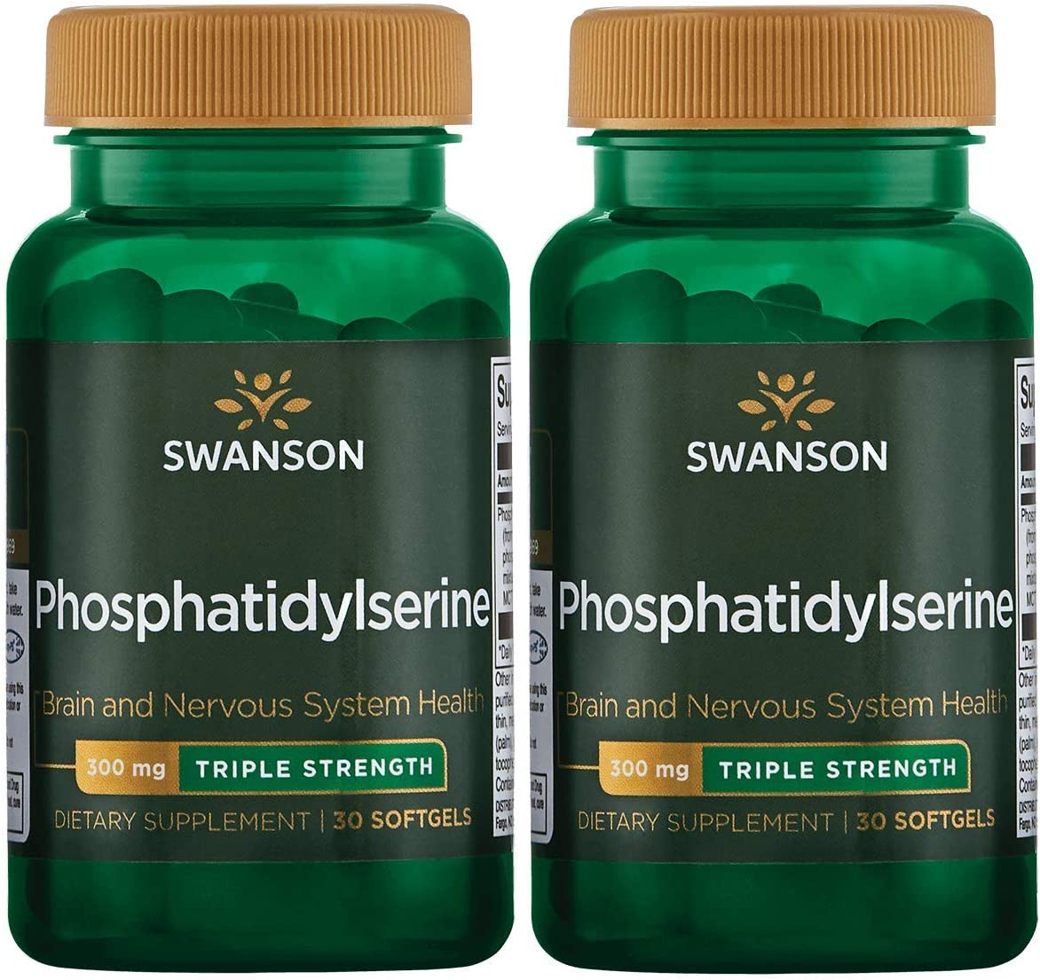 Swanson Phosphatidylserine – Triple Strength 300 mg 30 Sgels 2 Pack
