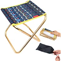 Folding Camping Stool Chair,Portable Folding Stool Camp Chair Outdoor Lightweight Camp Stool Mini Samll Chair with Carry…