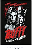 RARE POSTER sarah michelle gellar BUFFY THE VAMPIRE SLAYER joss whedon tv series giclee REPRINT #'d/100!! 12x18