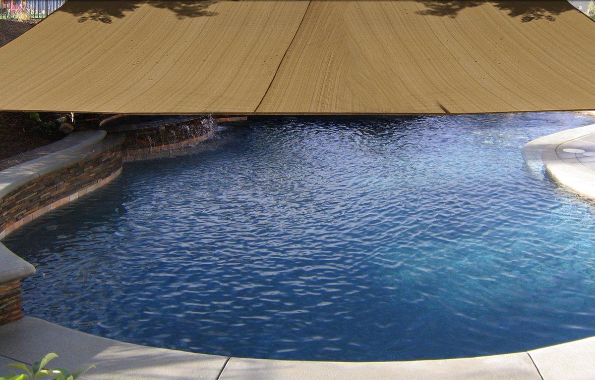 Amazon.com : Square 18x18 Ft Sun Sail Shade Cover   Tan : Outdoor Sunshade  : Garden U0026 Outdoor