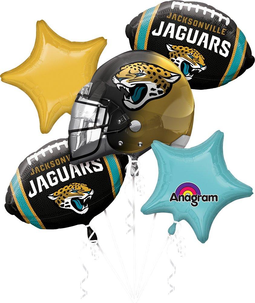 Anagram Bouquet Jaguars Foil Balloons, Multicolor