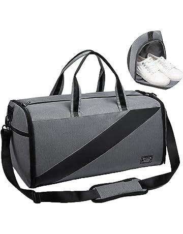 7ef171dbd2 Valleycomfy – Sac de Sport Grande capacité avec Poche à Chaussures,  Portable à la Main