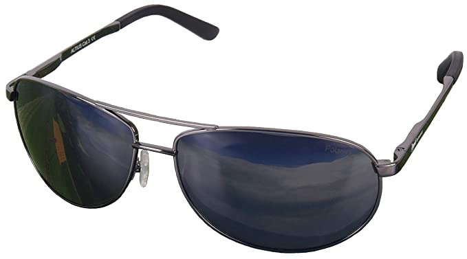 5375842fa0 Altius Polarized AVIATOR SUNGLASSES for Men   Women with UVA UVB protection.  Gray Mirror