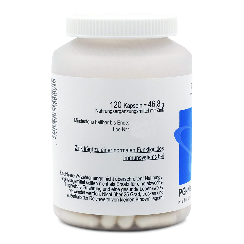 Zinc suplemento, 120 cinc cápsulas cada una con 14.9 mg de ...