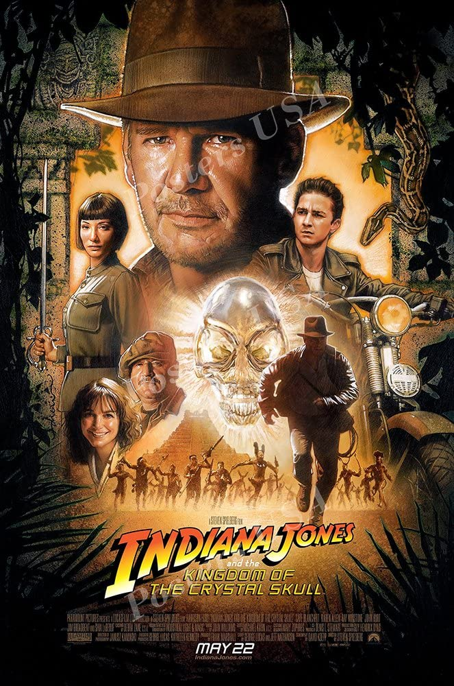 """Posters USA Indiana Jones and the Kingdom of the Crystal Skull Movie Poster GLOSSY FINISH - MOV065 (24"""" x 36"""" (61cm x 91.5cm))"""