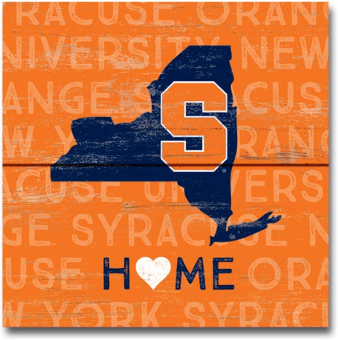 One Size Wood NCAA Legacy Syracuse Orange Wood Plank Magnet 3x3