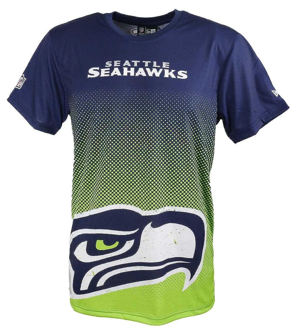 New Era T-Shirt der Seattle Seahakws Modell NFL Gradient mit Besonderem Farbverlauf für Damen und Herren