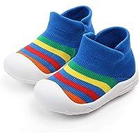 Zapatos de bebé para niños, antideslizantes, para interiores y niños, transpirable, elástico, de punto, prewalker, al aire última intervensión, niños y niñas