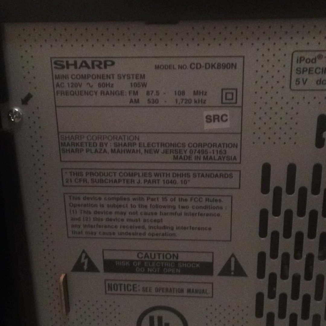 sharp cd dk890n manual car owners manual u2022 rh karenhanover co Stereo CD Player CD Radio Cassette Player