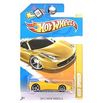 Hot Wheels 2012 New Models Ferrari 458 Spider 25 of 50 Yellow: Toys & Games [5Bkhe0401464]