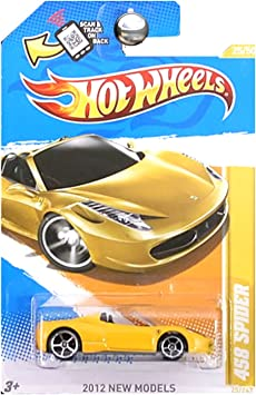 2012 Hot Wheels 458 SPIDER New Models Yellow