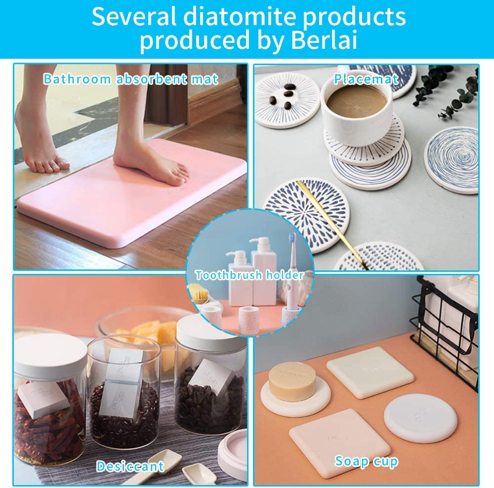 Sleek and Modern Design Decrotion for Bathroom Stand Cup Organizer to Keep Toothbrush Dry and Absorb Odor Dark Gray Berlai Bathroom Diatomite Toothbrush Holder