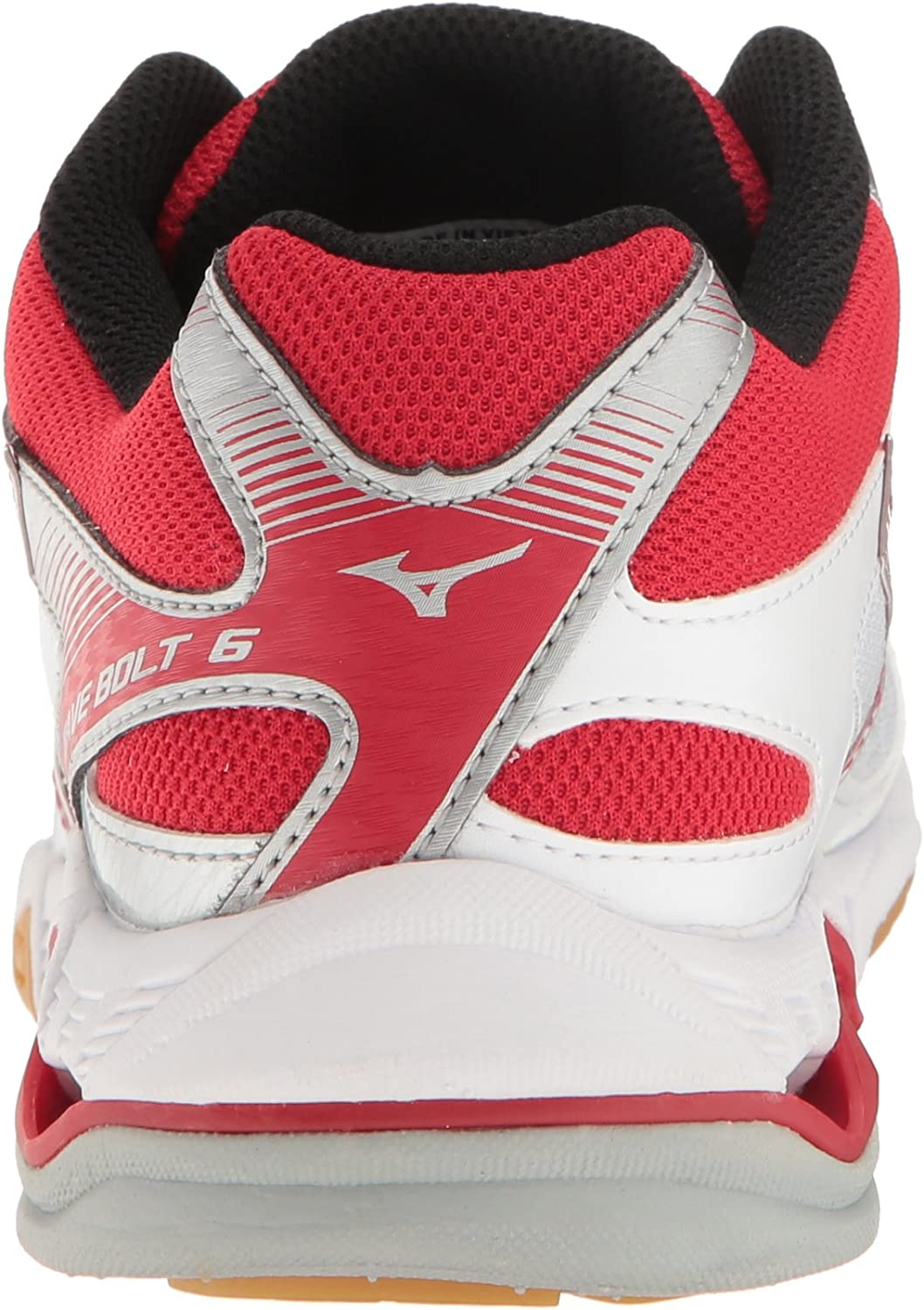 Mizuno Women's Wave Bolt 6 Volleyball-Shoes White/Red