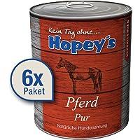 hopey 's hipoalergénica allergenes Perros Forro: Carne de caballo como fuente de proteína Única, 100% Carne de caballo para perros, 6x 850g latas