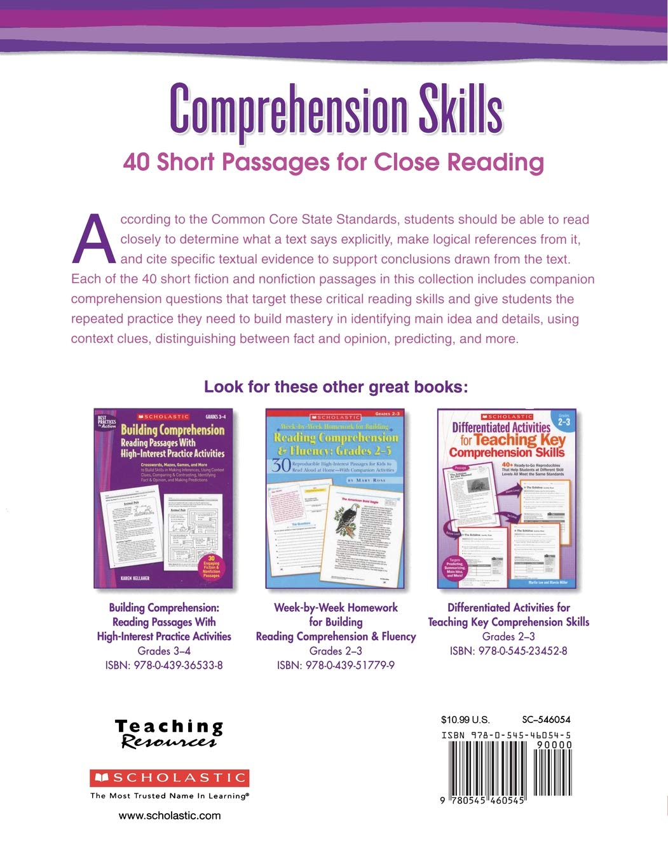 - Amazon.com: Comprehension Skills: Short Passages For Close Reading
