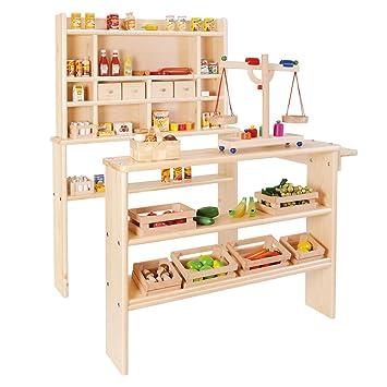 Kaufladen Küche | Nemmer Holz Kinderkaufladen Kinder Kaufladen Natur Amazon De