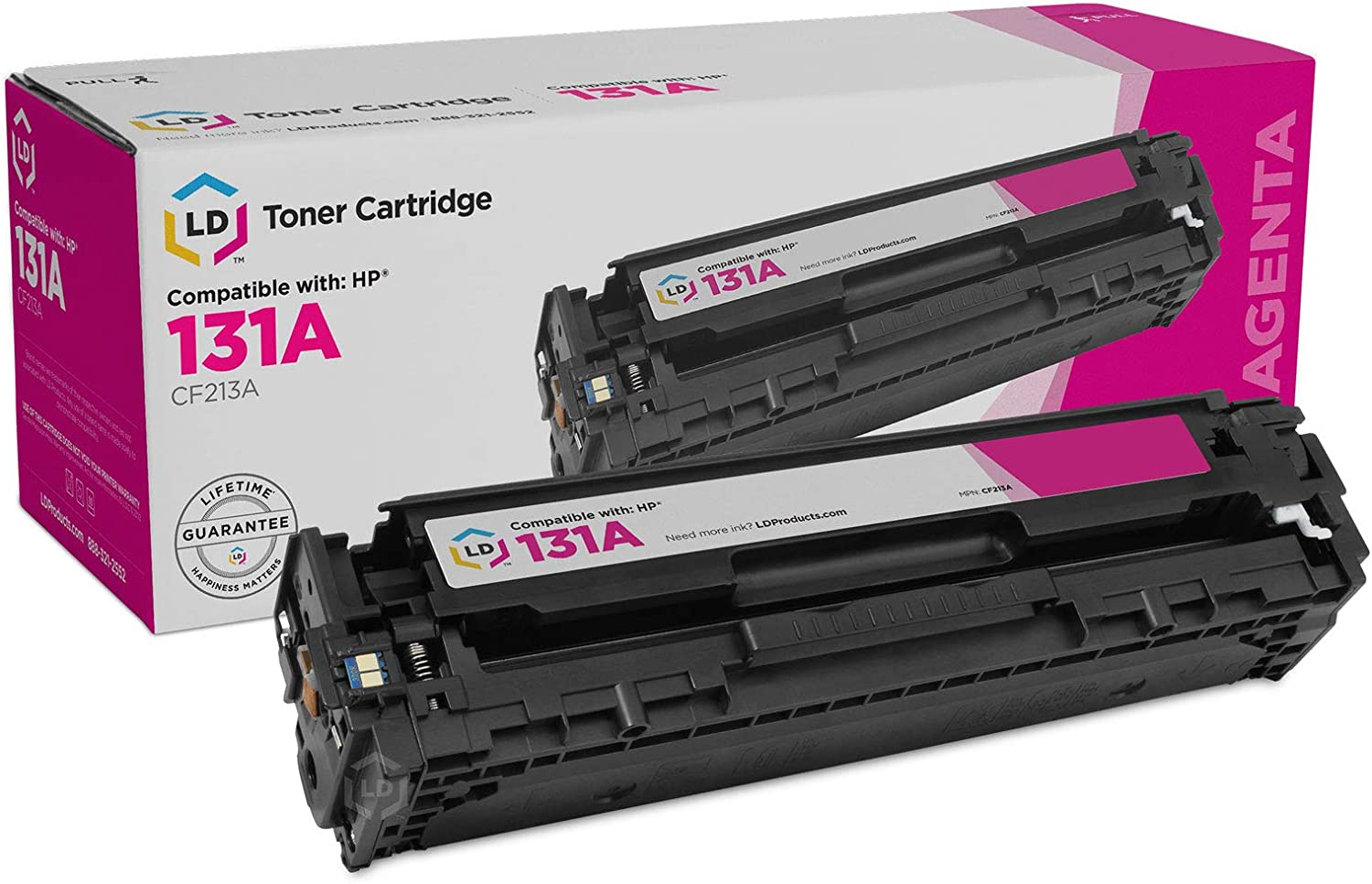LD Remanufactured Toner Cartridge Replacement for HP 131A CF213A (Magenta)