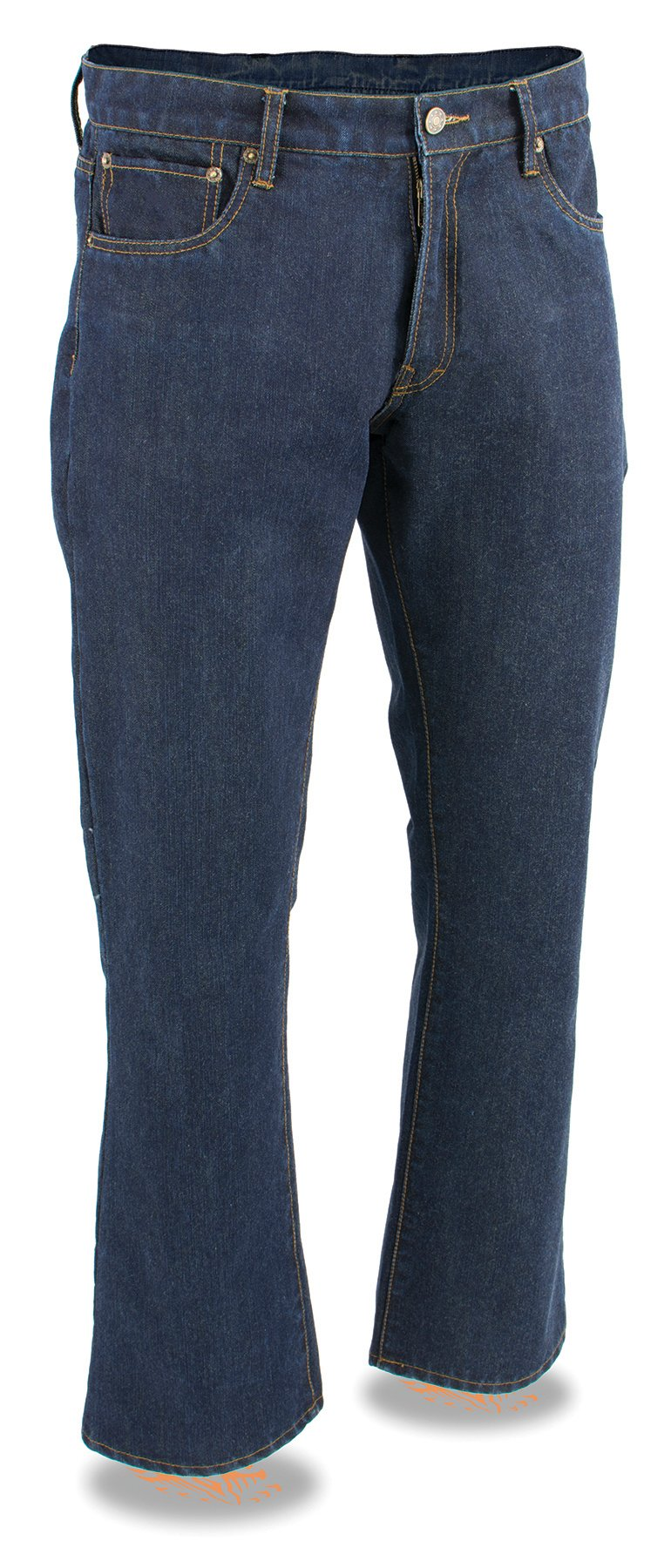 Milwaukee Leather Men's Denim Jeans Infused With Aramid Blue 40
