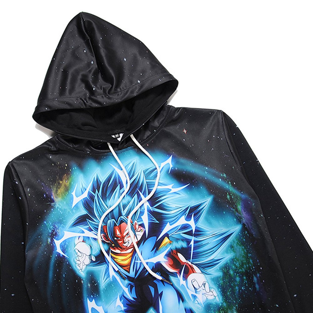 FCF Men Unisex Dragon Ball Saiyan Goku Hoodie Sweater at Amazon Mens Clothing store: