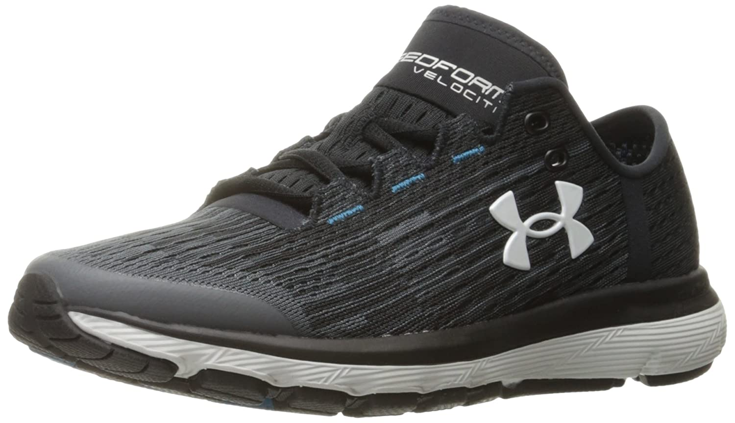 Under Armour Women's Speedform Velociti Graphic Running Shoe B01MXXIUD8 8 M US|Rhino Gray (100)/Black