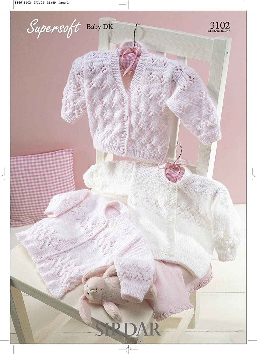Sirdar 3102 Supersoft Baby Double Knitting Pattern, Cardigans, by ...