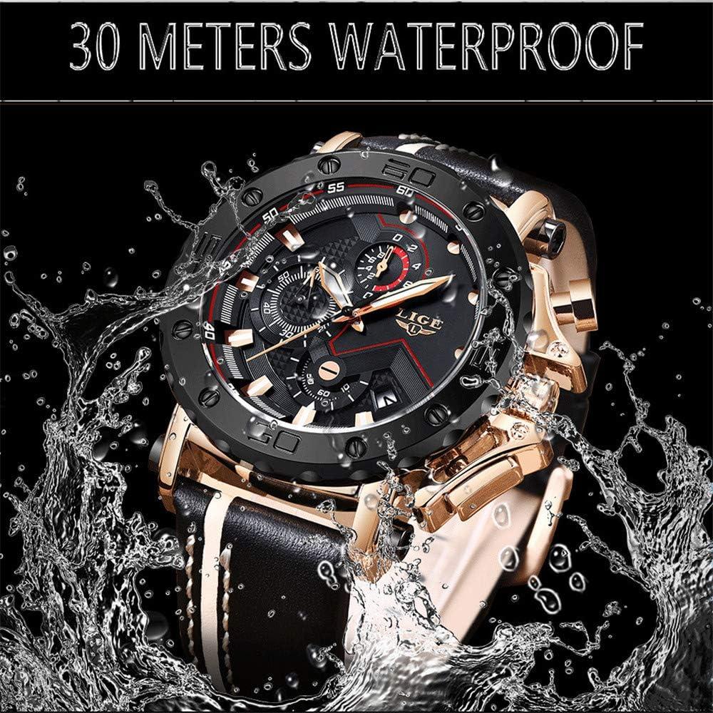 HM2 Uomo Quarzo Orologi Sportivi Impermeabile Multifunzione Cronografo da Polso A