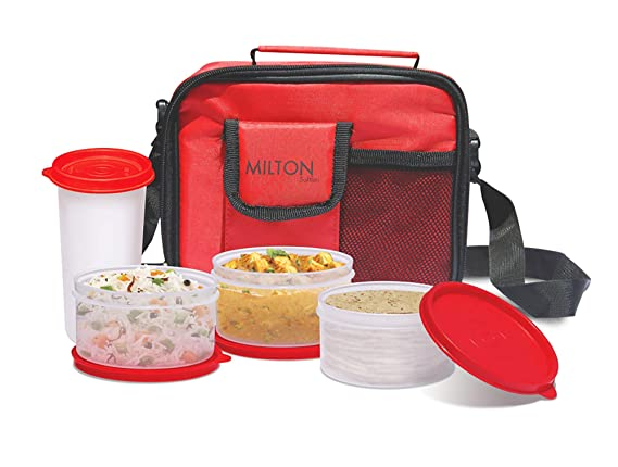Milton Meal Combi Plastic Lunch Box, Red Lunch Boxes