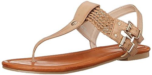 2597a20a073 MIA 2 Women s Ivelise Flat Sandal Natural 6 ...