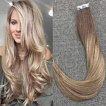 Amazon full shine 22 inch glue in colored hair extensions full shine 22 inch glue in colored hair extensions color 10 fading to 14 pmusecretfo Choice Image
