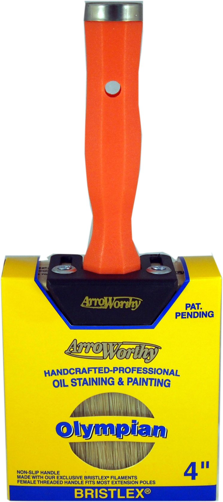 Arroworthy 30250 4-Inch Professional Polyester Olympian Oil Staining and Painting Brush